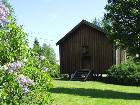 Stabbyret: Fra gården Orderud. Bygget ca. 1850 og flyttet til bygdetunet i 1962.