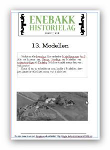 13 Modellen plakat