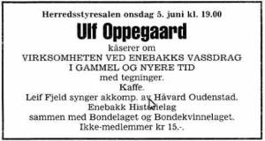 Ulf opp annonse