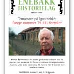 11/4-2013  Temamøte «Fange nummer 79 231 forteller»