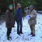 4/11-2006   Kulturminnegruppa på befaring i Maribråtlia