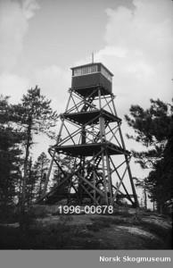 Tårnet på Byseterkollen - Kjerringhøgda skogbrannvaktstasjon i Enebakk